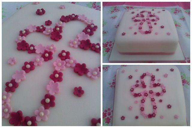 Pin by Hyma Jose on new born | Christening cake girls