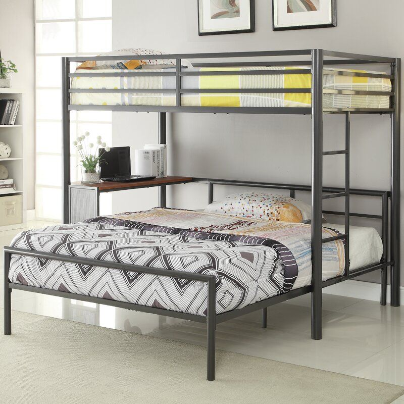 Nedra Twin Over Full L Shaped Bunk Bed Twin Loft Bed Bunk Bed Designs Bunk Bed With Desk
