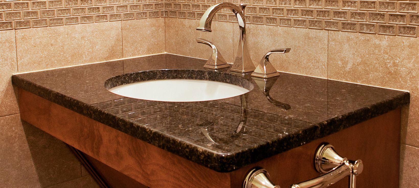 UBA Tuba granite counter top with under-mount, single-bowl ...