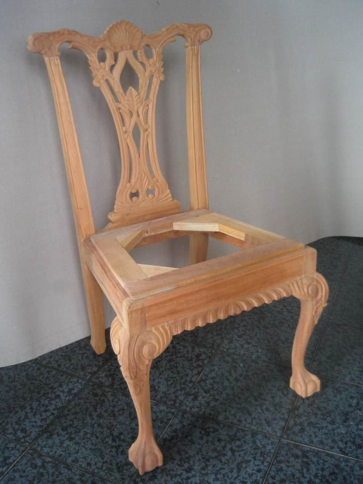 Unfinished Classic Furniture Wooden Frame Shellback