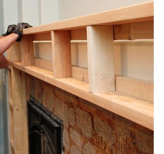 Build A Fireplace Surround With Mantel Shelf Pellet Diy