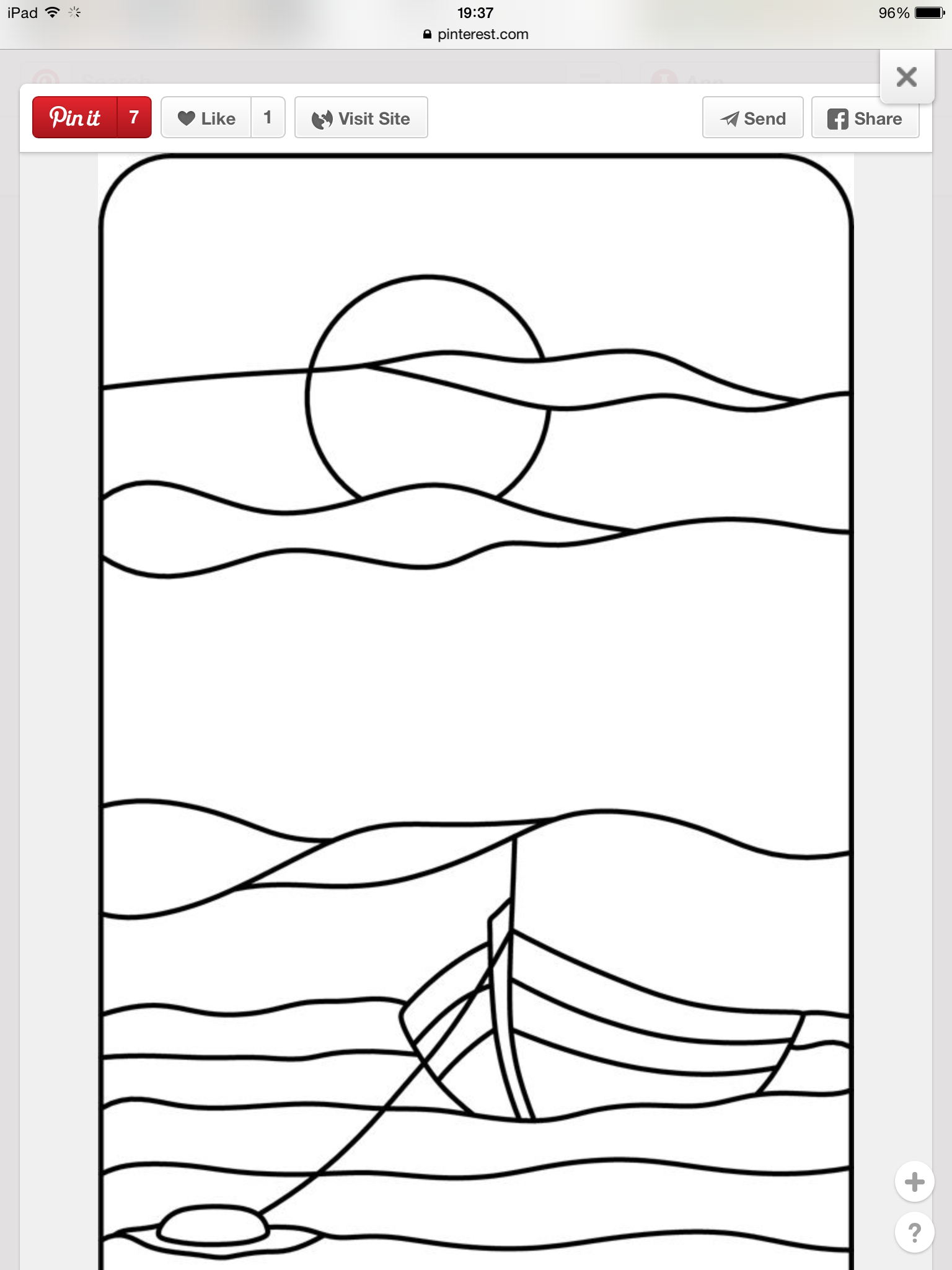 Free Stained Glass Ships Or Torn Paper Pattern