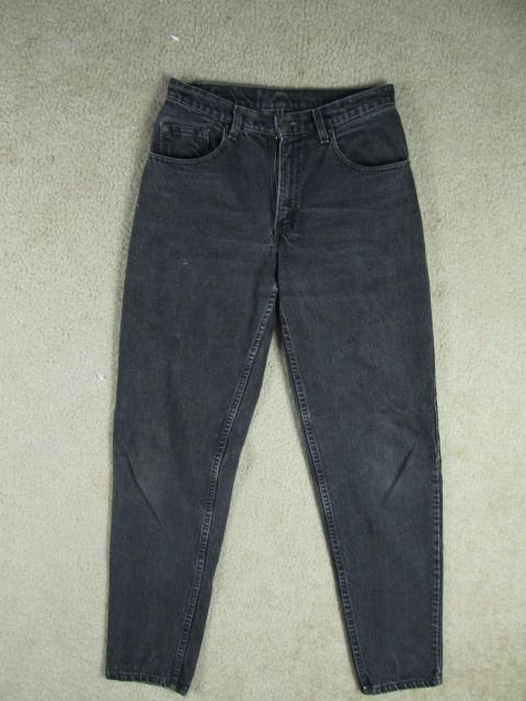 Levis 560 Loose Comfort Fit Tapered Leg Mens Jeans Black USA 31 x ...