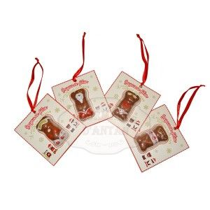 Ourson Guimauve de Noël x 4 - décoration sapin de noël - 24g