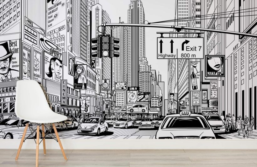 Empire State Black And White Wallpaper Manhattan Wallpaper New York Wallpaper Black And White Wallpaper