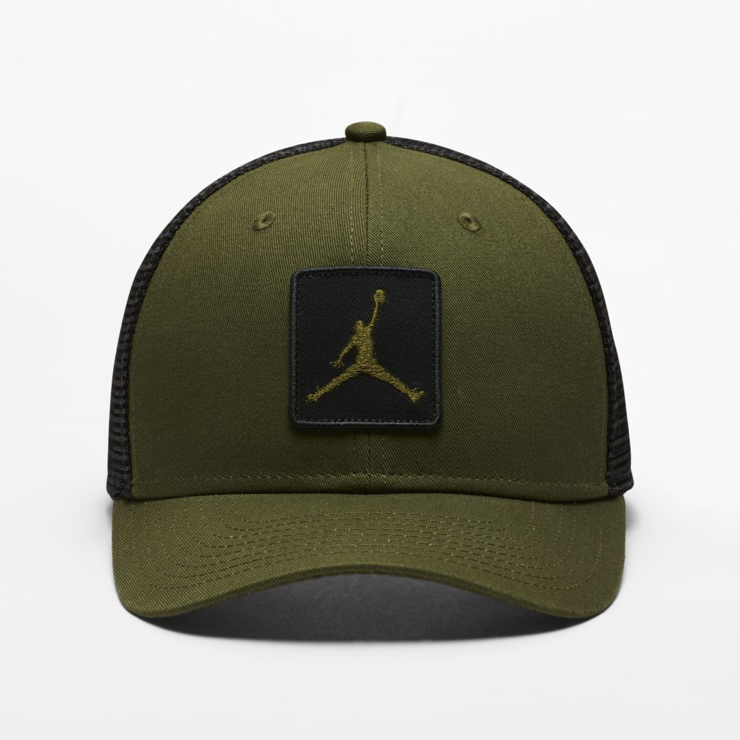 best sneakers 18cc8 70118 Jordan Jumpman Classic99 Trucker Adjustable Hat Size ONE SIZE (Olive Canvas)