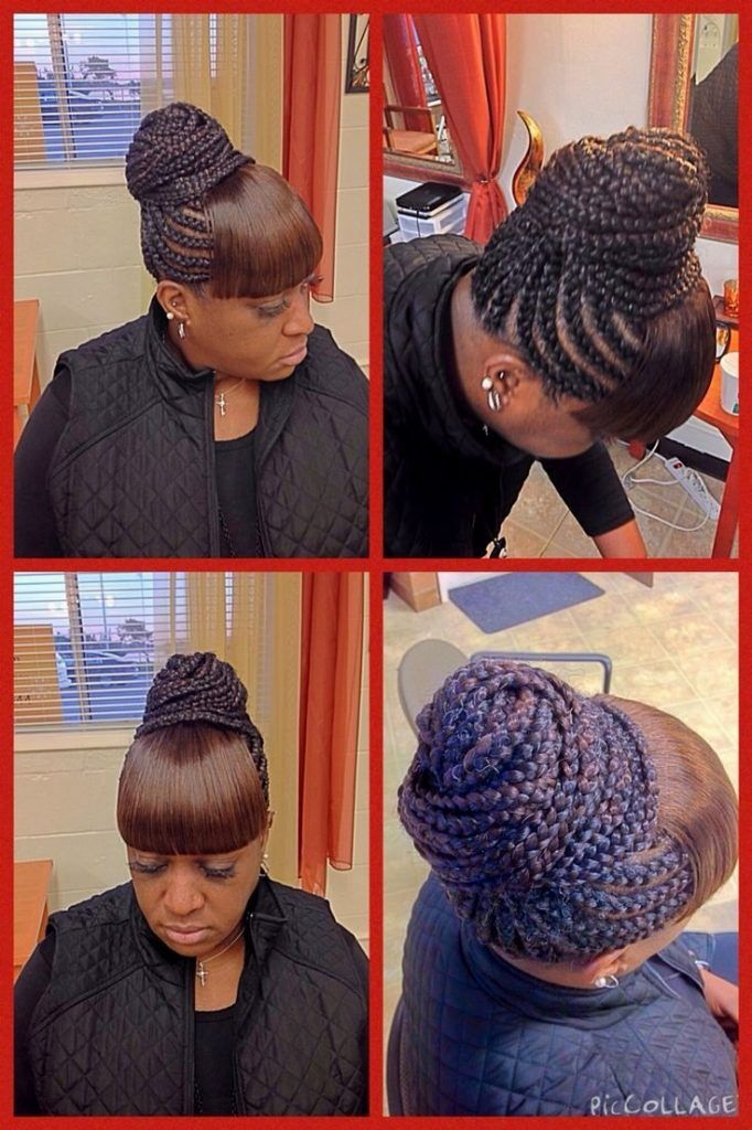 Cornrow Hairstyles With Bangs Hairstyles Ideas Cornrows Hairstyle With Fringe Hairstyles With Bangs Braided Hairstyles Hair Styles