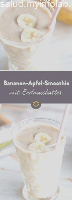 Bananen-Apfel-Smoothie mit Erdnussbutter Bananen-Apfel-Smoothie mit Erdnussbutter,