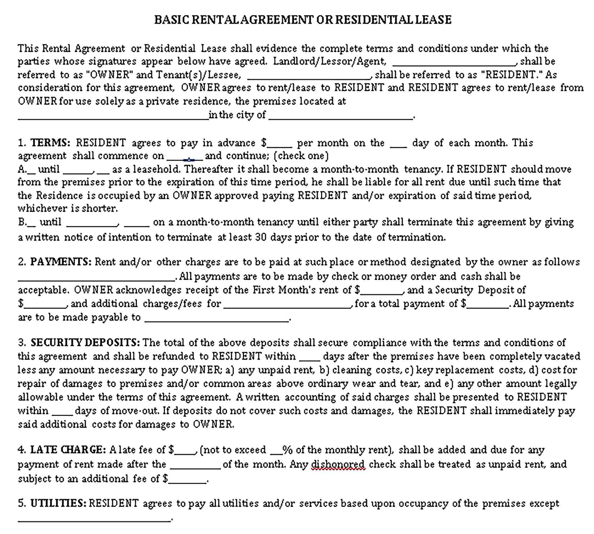 Sample Lodger Agreement Template Agreement Business Template Being A Landlord