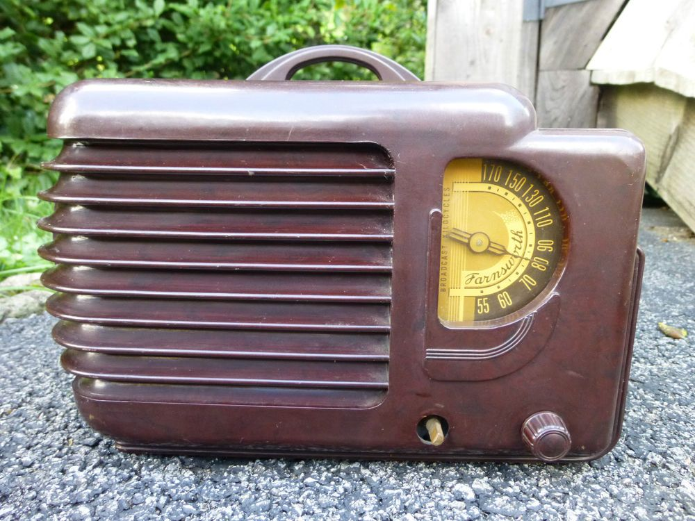 Rare Vintage 1940 Farnsworth AT-12 Tube Radio Parts Repair