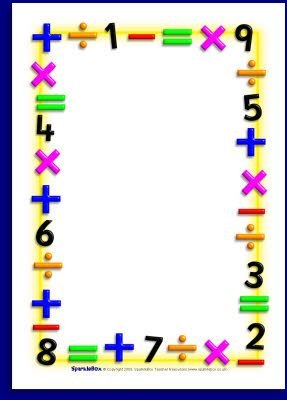 Maths themed  page borders sb also pin by muse printables on and border clip art math rh pinterest