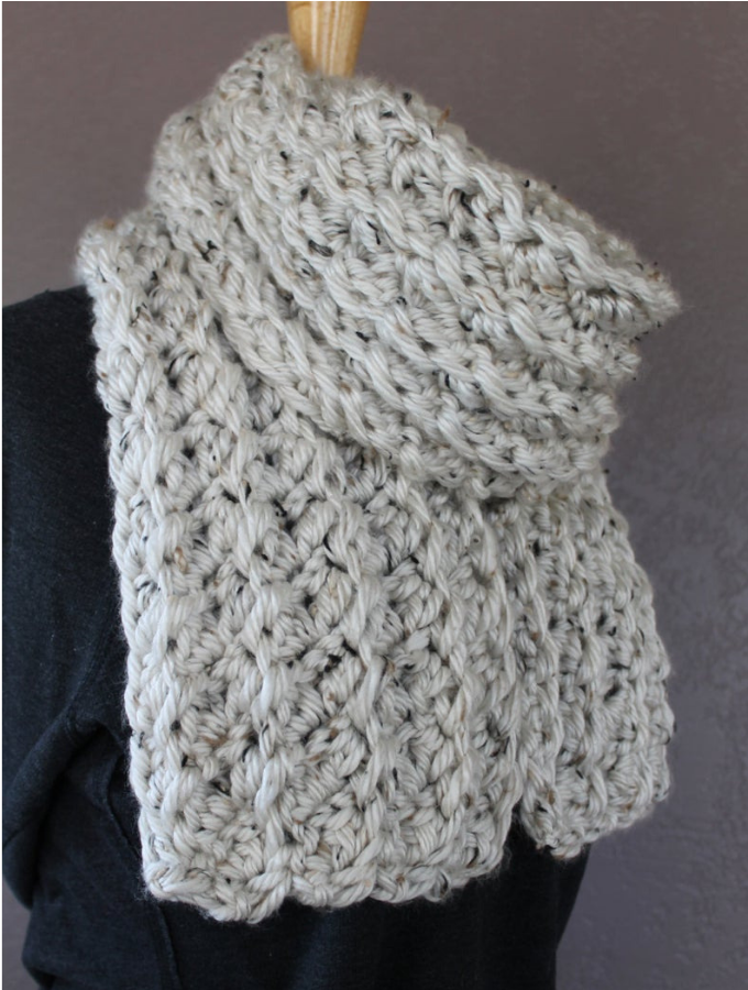 Photo of Easy Crochet Scarf Pattern, how to make the Crochet Ribbed Scarf Pattern