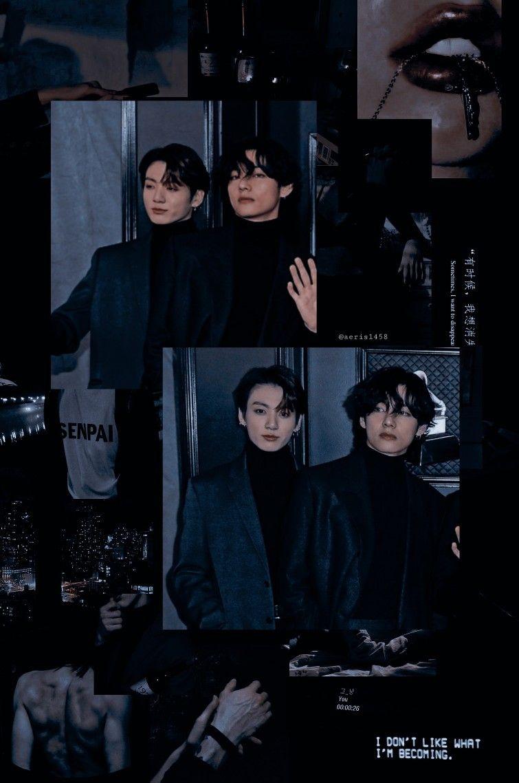 Taekook Bts Aesthetic Wallpaper For Phone Kim Taehyung Wallpaper Taekook Wallpaper bts estetik black