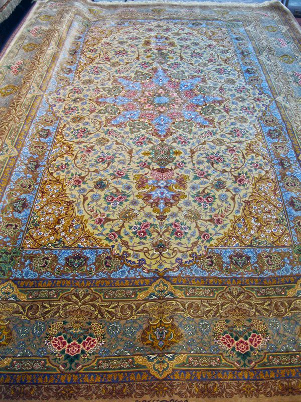 Qum Silk Persian Rug Exclusive