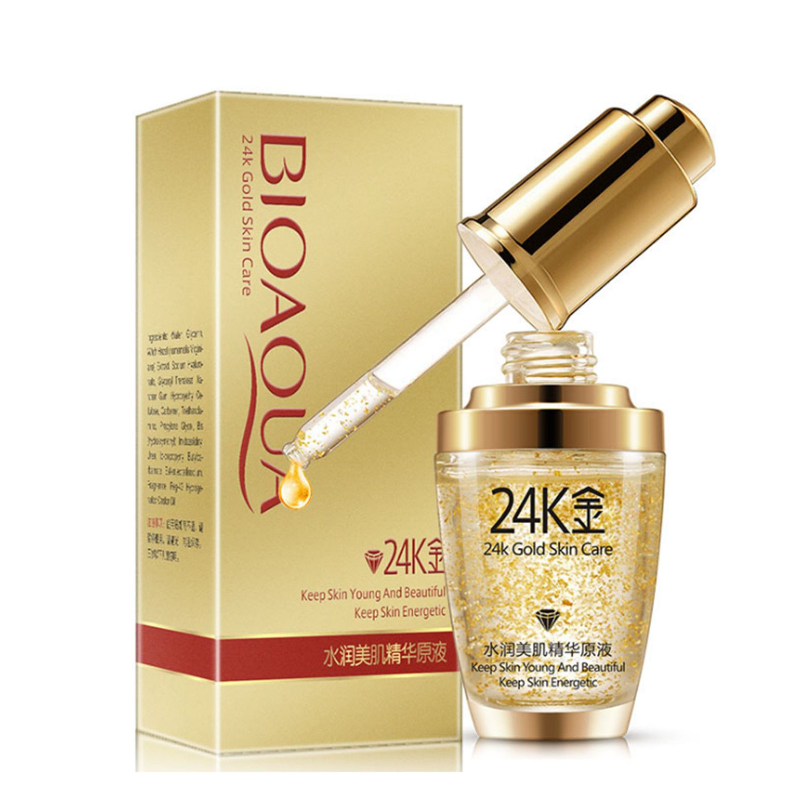 Bioaqua 24k Gold Skin Care Essence Collagen Anti Aging Nutritious Moisturizing Gold Skin Skin Care Moisturizer Oil Control Products
