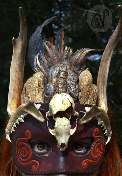 Shaman Mask by Nymla.deviantart.com on @deviantART