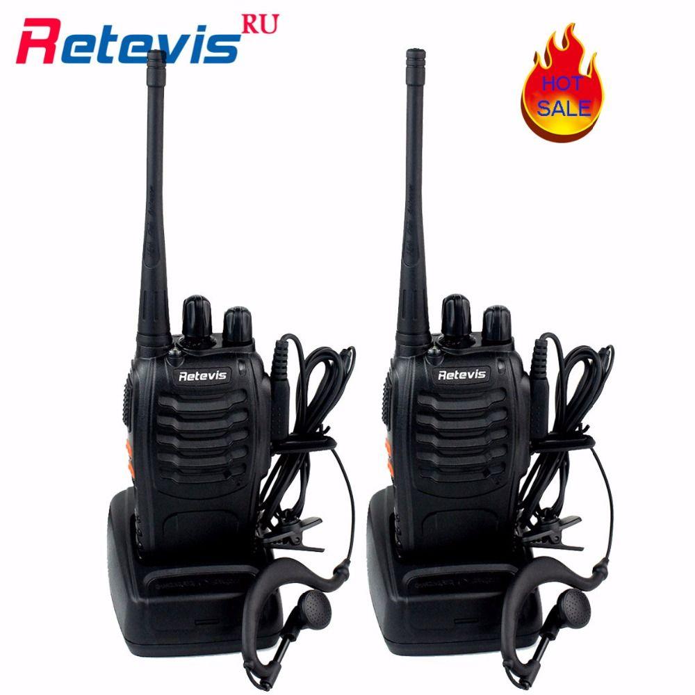 2 Walkie Talkie UHF400-470MHz H777 2 Way Radio