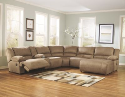 Hogan 6 Piece Sectional by Ashley HomeStore Tan Polyester 100