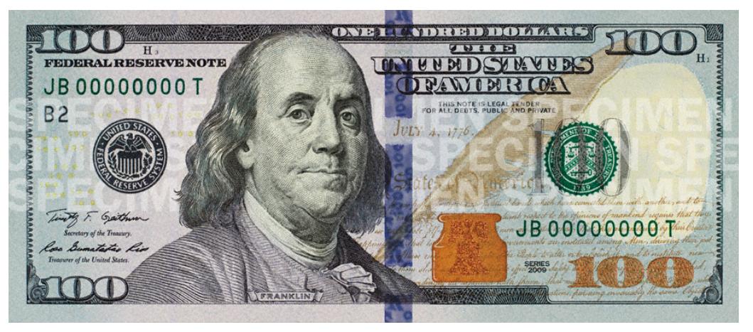 Actual Size Of 100 Dollar Bill 100 Dollar Bill Bills Printable Dollar Bill