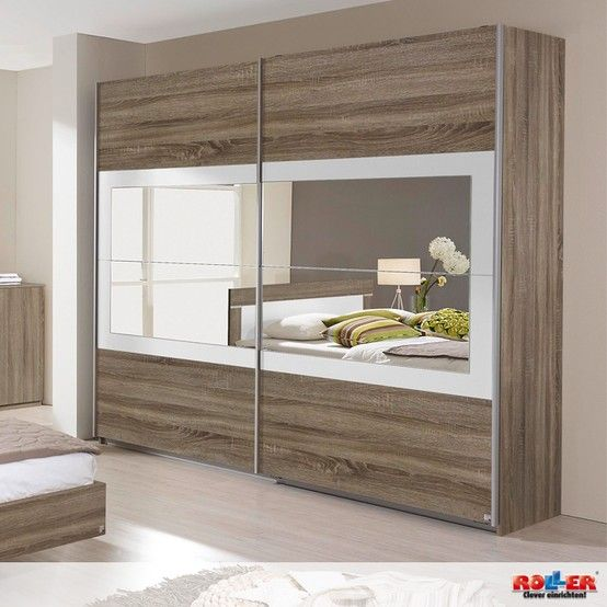 Schwebetürenschrank VENLO: Modernes Schlafzimmerprogramm in traumhaft schönem Havanna-Eiche kombiniert mit Absetzungen in Alpinweiß. - Maße: B/H/T ca. 226/210/62 cm  Zum Artikel: http://www.roller.de/schwebetuerenschrank-venlo/000194034000/