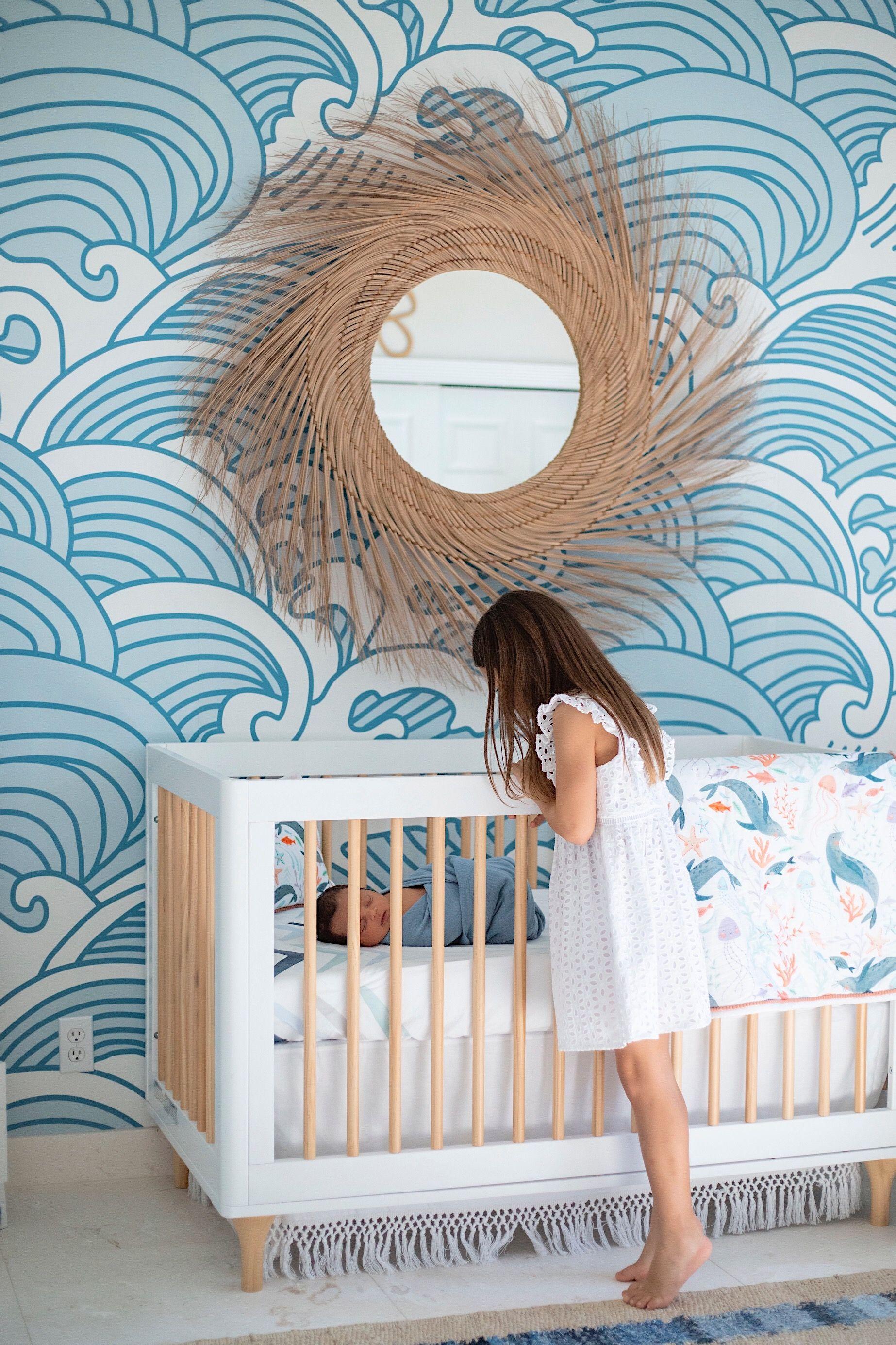 Bombora Mural Beach Theme Nursery Nursery Baby Room Nursery Wallpaper