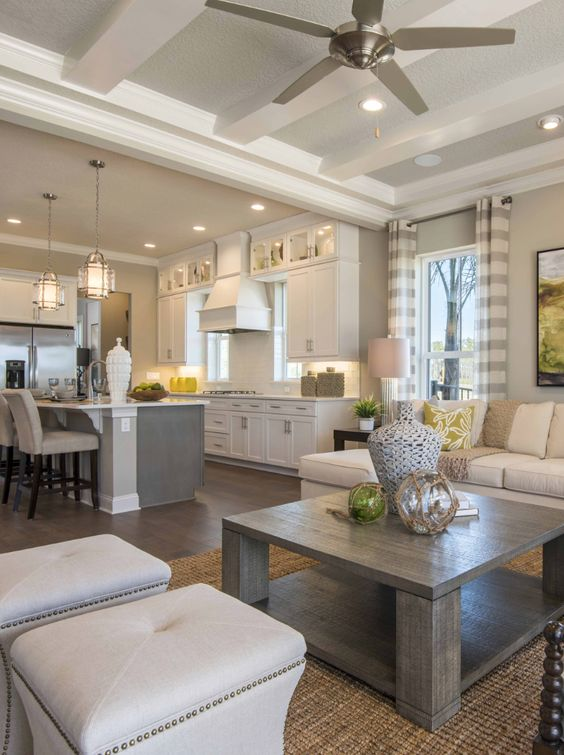 Like the flow between living spaces, colors and style ...