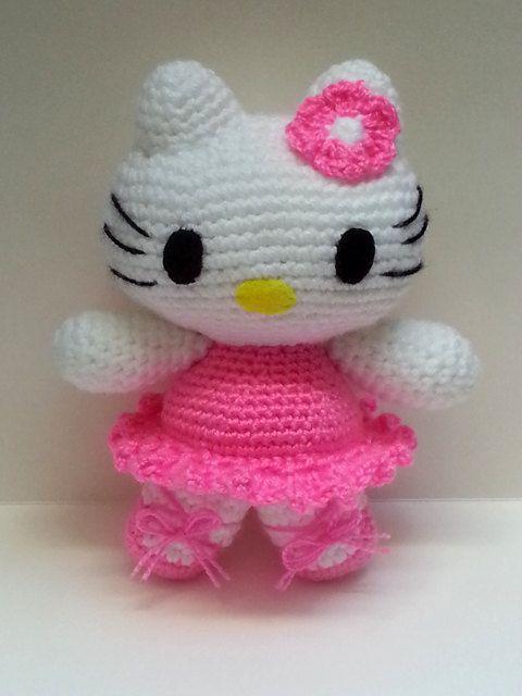 Hello Kitty Dancer crocheted doll Amigurumi by HANDMADEONLYFORYOU