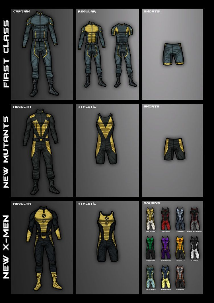 Uniforms By Oshkoshbgosh X Men Costumes Superhero Facts Marvel Characters