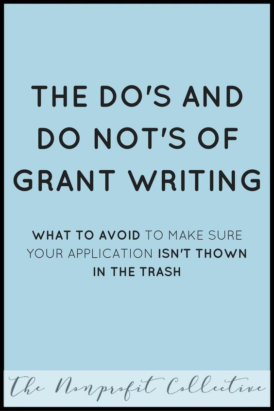 The Dou0027s and Do Notu0027s of Grant Writing Writing, The ou0027jays and - grant writing resume