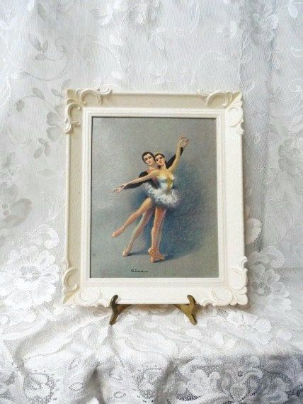 Ballet Dancers By Gina Framed Ballet Couple Dancing Faux