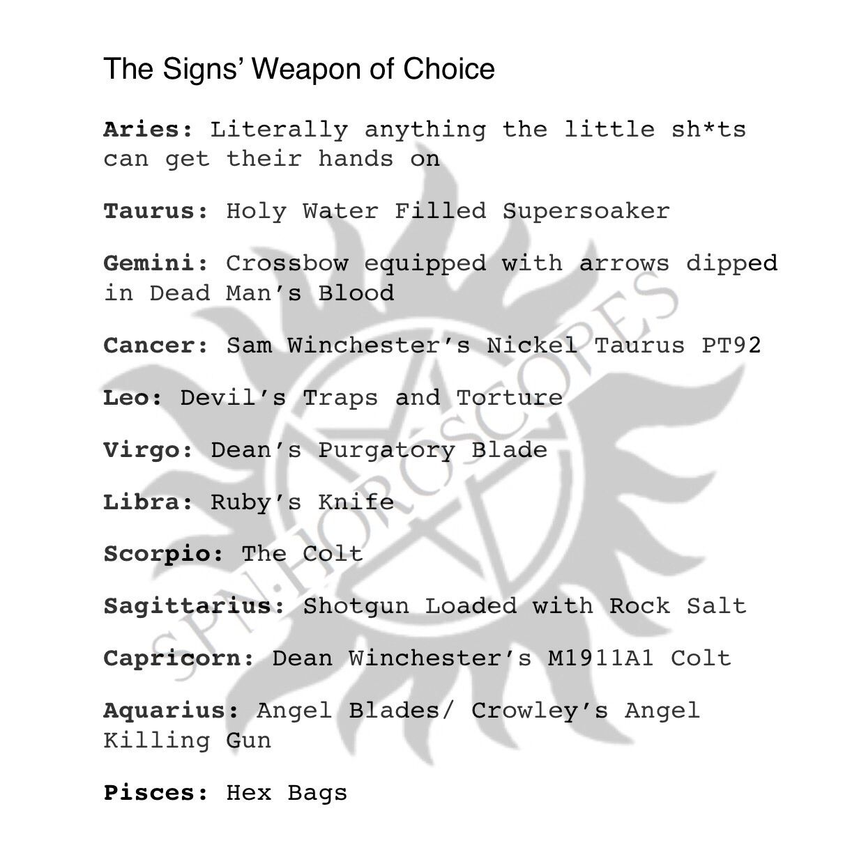 🔫The Signs' Weapon of Choice🔪 | Christopher | Supernatural