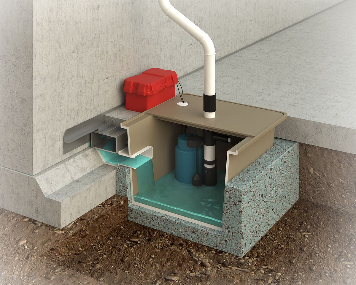 This Image Shows The Basement Waterproofing And Sump Pump System Waterproofing Basement Basement Wet Basement