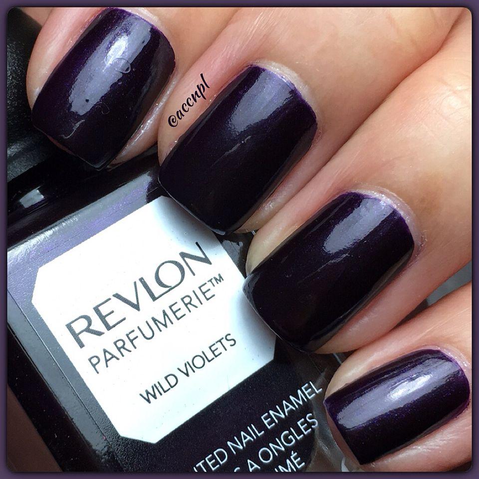 "Two coats and no top coat of Revlon's ""Wild Violet"". #Revlon #nailpolish #nails #swatches . Instagram: accnpl"