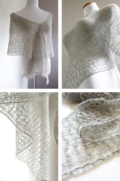 Rosewater Pattern By Janina Kallio Knitting Patterns Shawl And