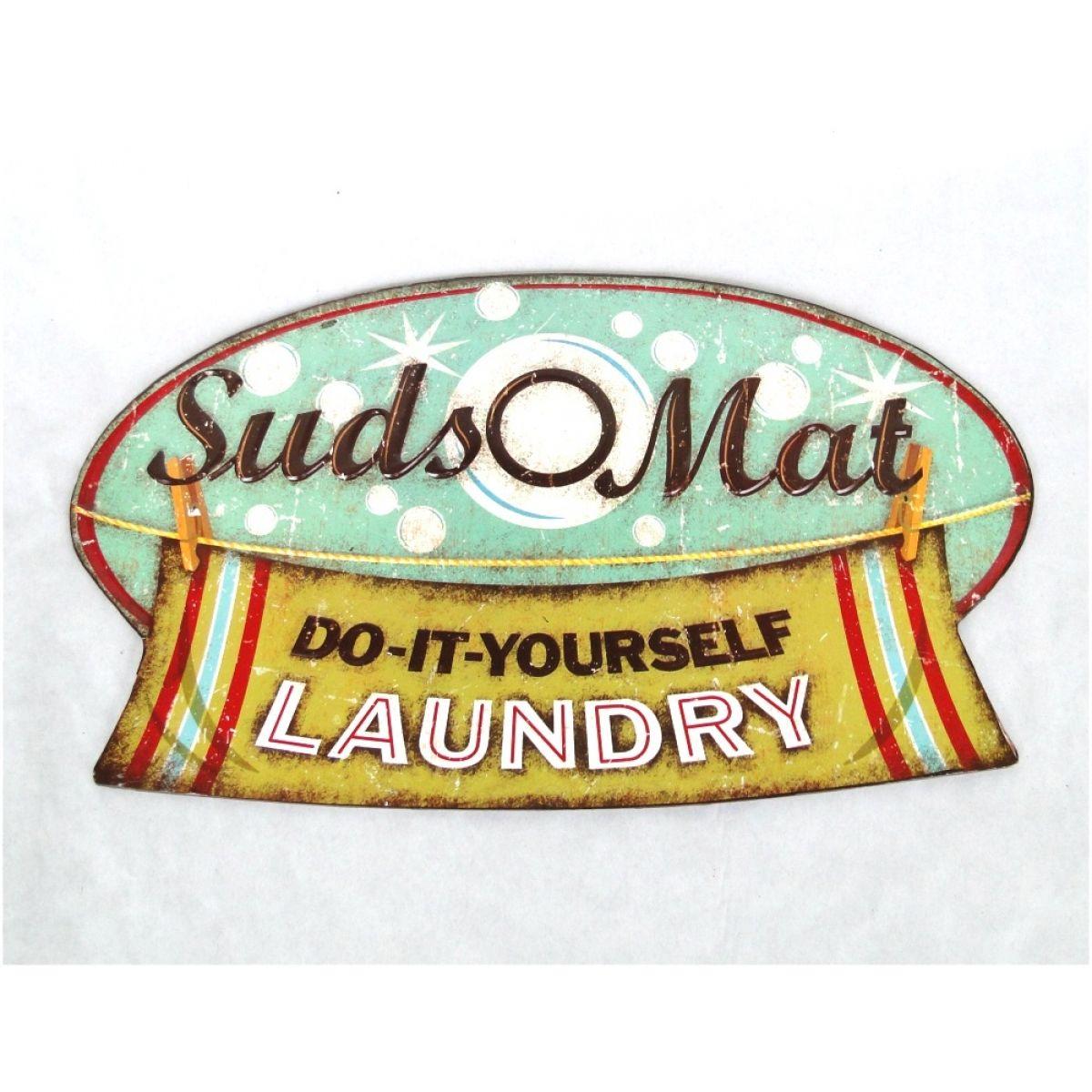 Vintage Laundromat Sign Tin Suds Laundromat Retro Wall Sign Vintage Replica  Laundry