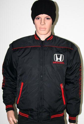 Honda Auto Jacket Vest Coat embroidered logos / civic type ...