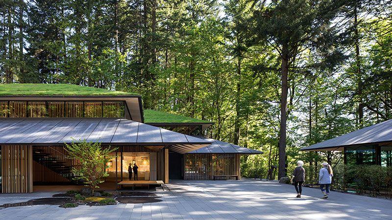 Cultural Village At Portland Japanese Garden Metal Roofing 3mm