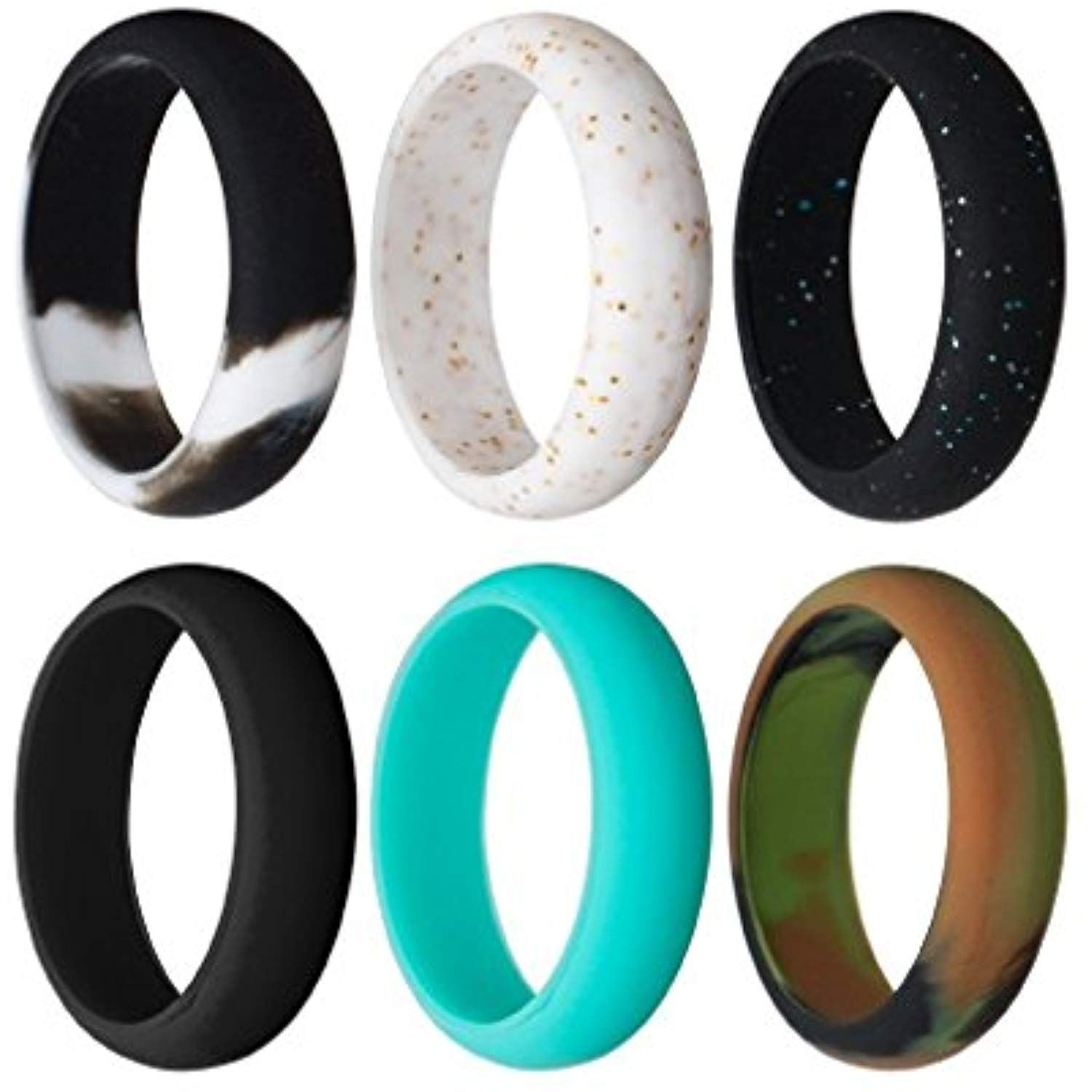 Rmylove Silicone Rings For Women Safe Wedding Band Yoga