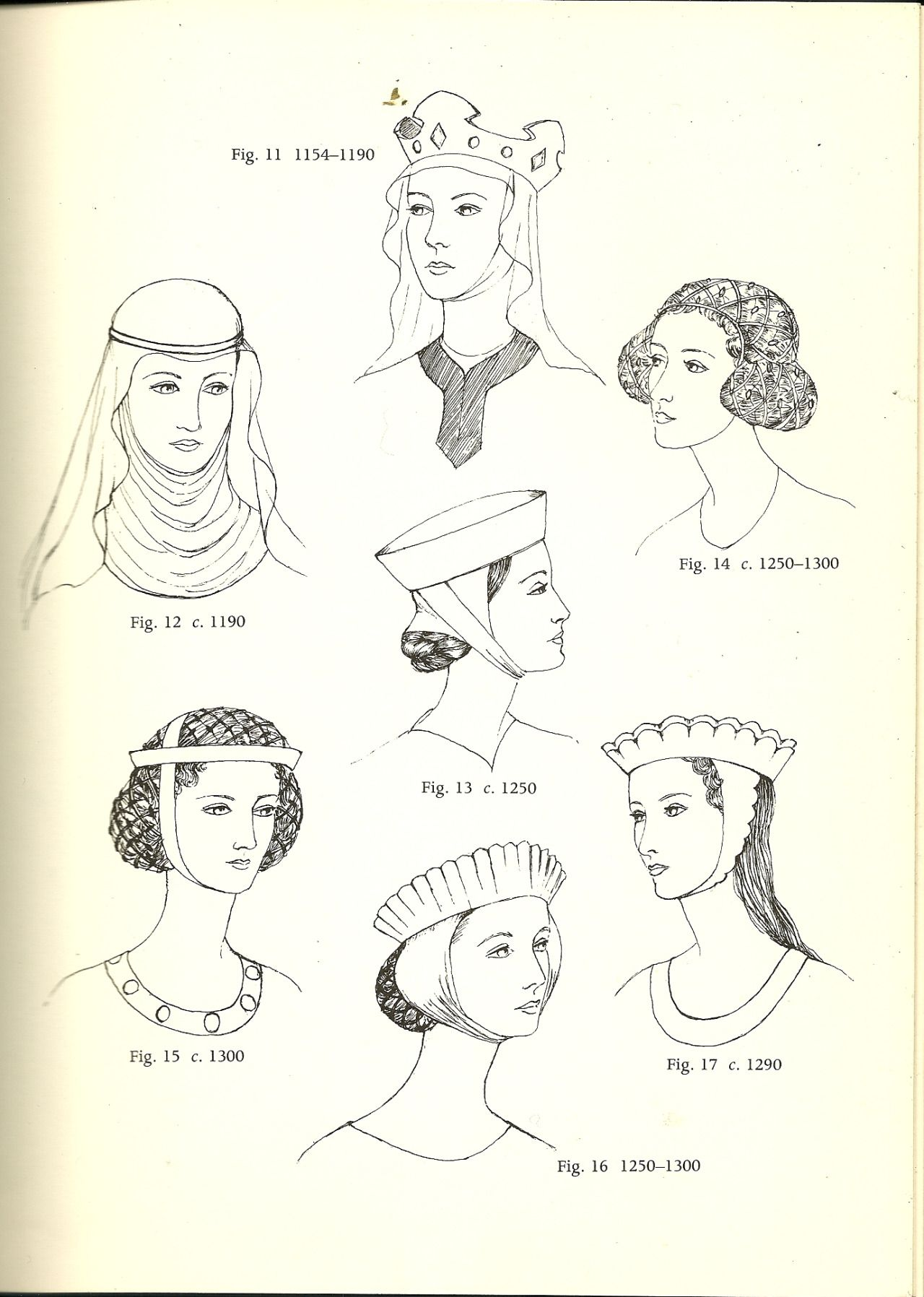 glossary of english hairstyles and headdress:   jewels, hair and