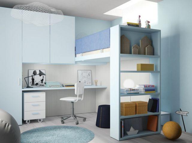 10 solutions pour aménager le dessous d\'un lit mezzanine | Lits ...