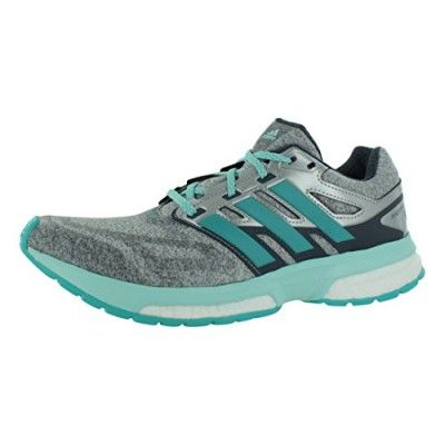 adidas Performance Women's Response Boost Techfit Running Shoe, Bold Onix/Vivid  Mint/Frost