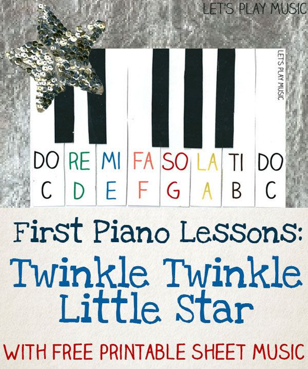 Twinkle Twinkle Little Star Easy Piano Music With Images Music
