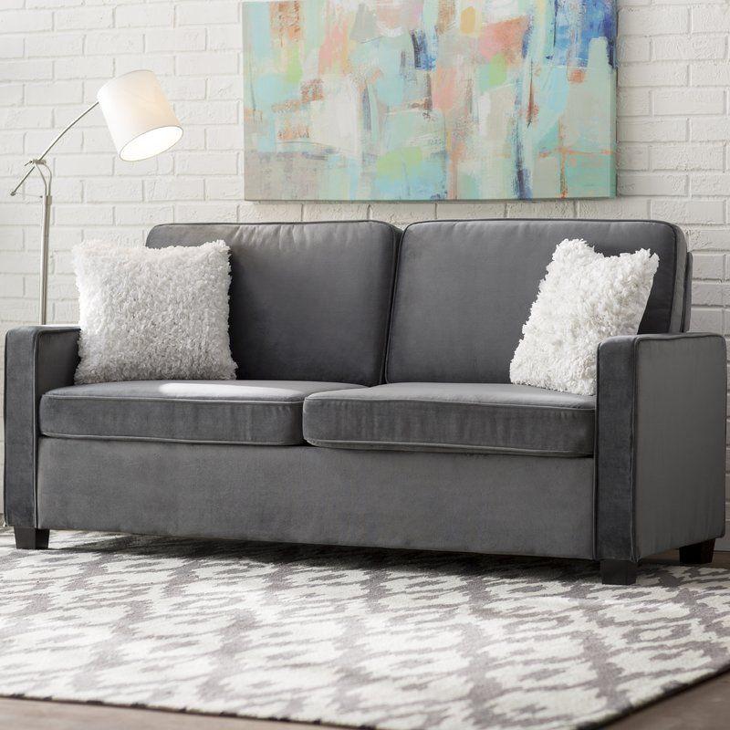 Cabell Velvet Square Arm Sofa Bed Furniture Sofa Bed Sofa