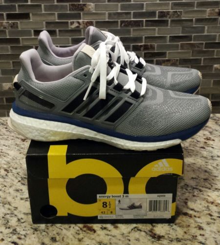 on sale 74f2e d40c8 Men Shoes New Mens Adidas Energy Boost 3 Running Shoes GrayBlueWhite  Size 8.5 Men Shoes