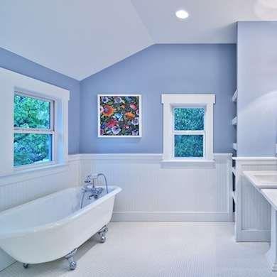 Beyond White: 11 Alternative Hues To Color Your Bath. Blue Bathroom PaintWhite  ...