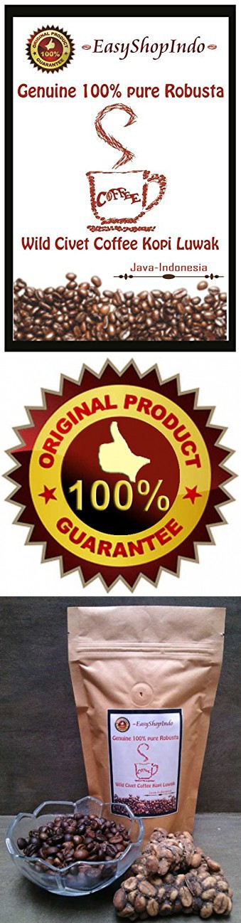 Genuine 100 Pure Robusta Wild Civet Coffee Kopi Luwak