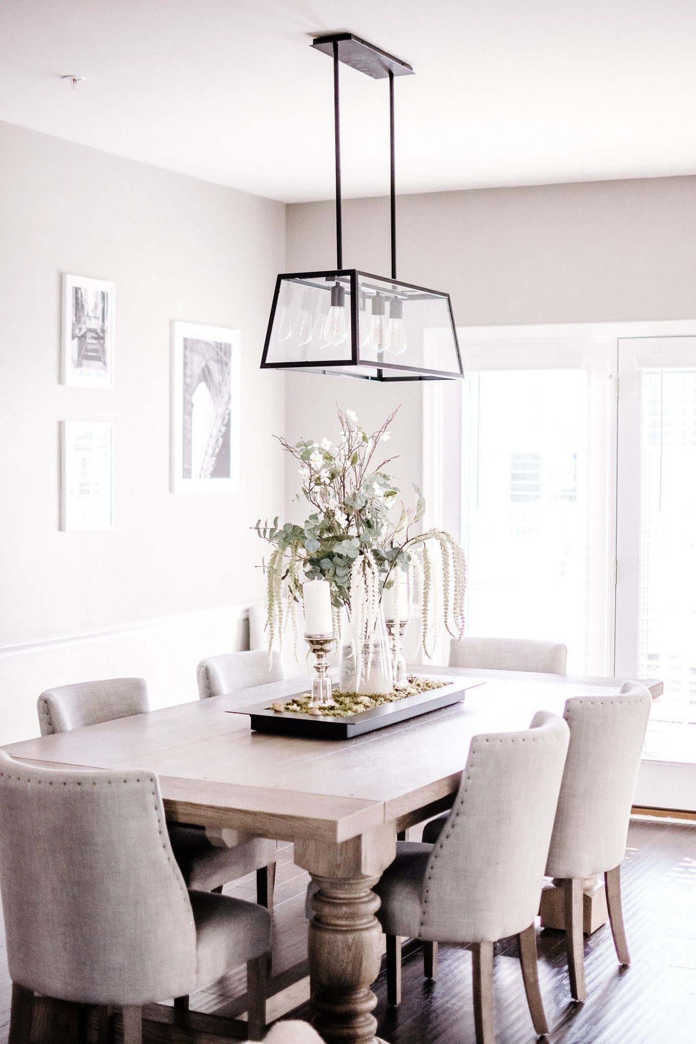 Rustic Glam Dining Room With A French Farmhouse Dining Room Table Riveted Dining Ro Transitional Dining Room Decor Farmhouse Dining Room Informal Dining Rooms
