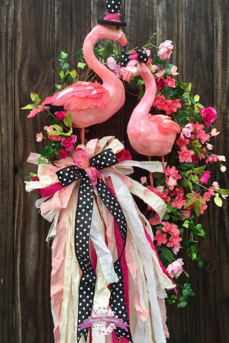Diy Flamingo Door Hanger