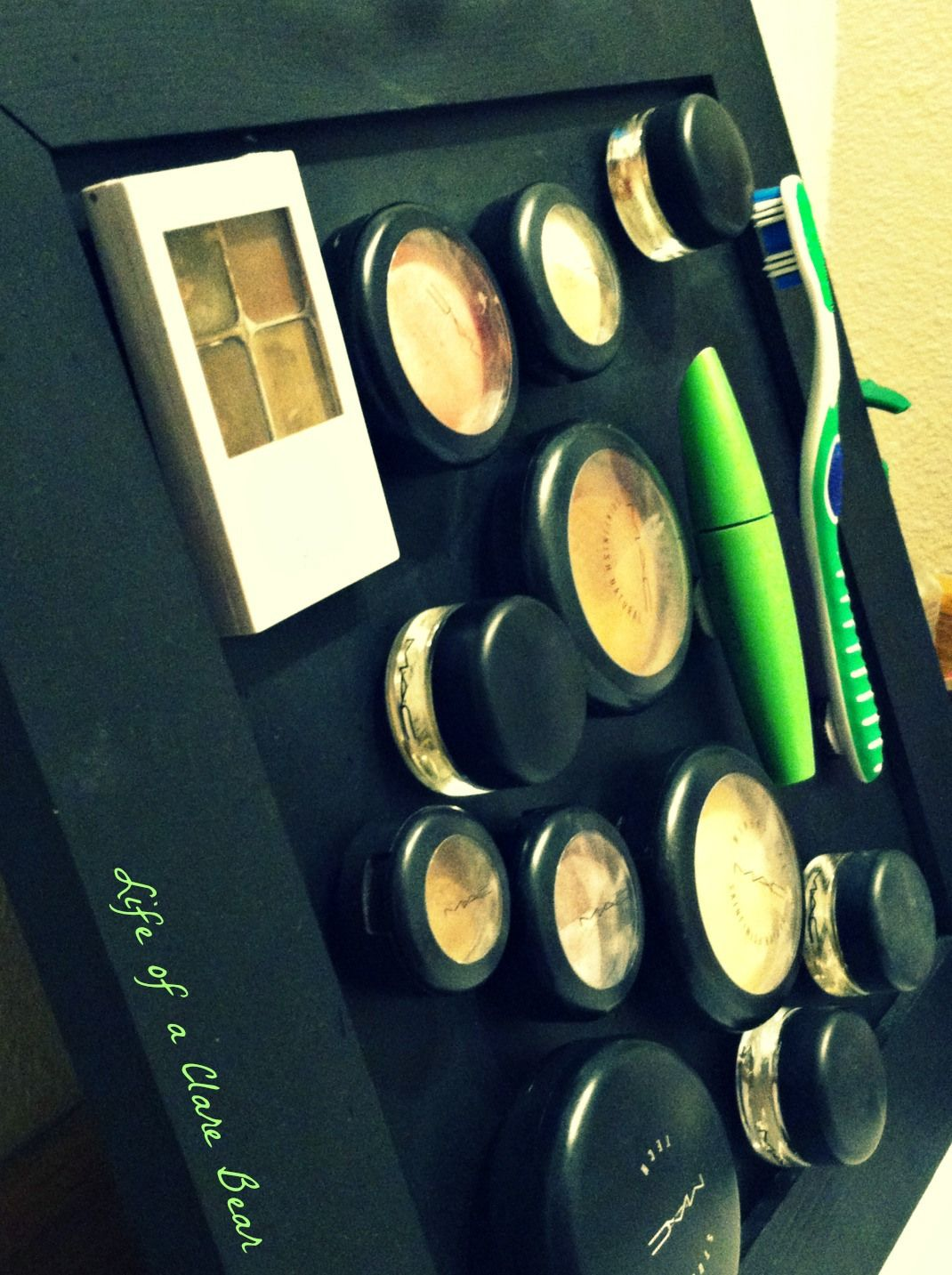 DIY makeup board because I am a MAC SNOB! Now I have so much more room for activities