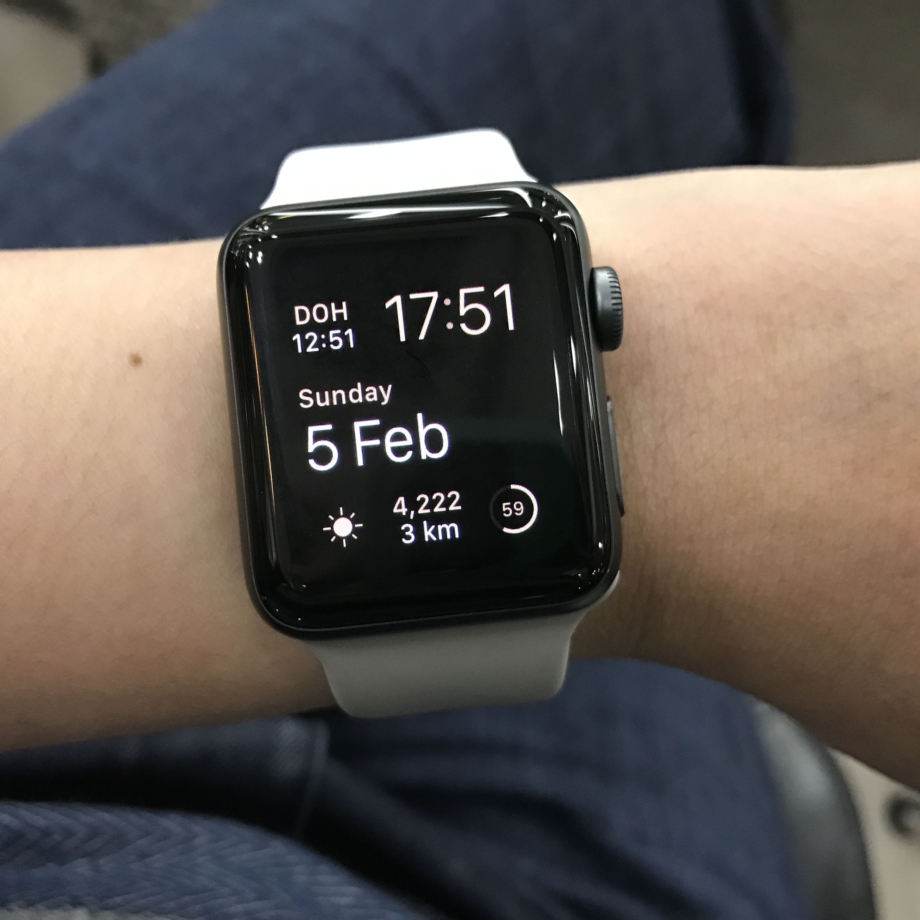 White Silicone Band Matched With Gray Silicone Band Color Of The